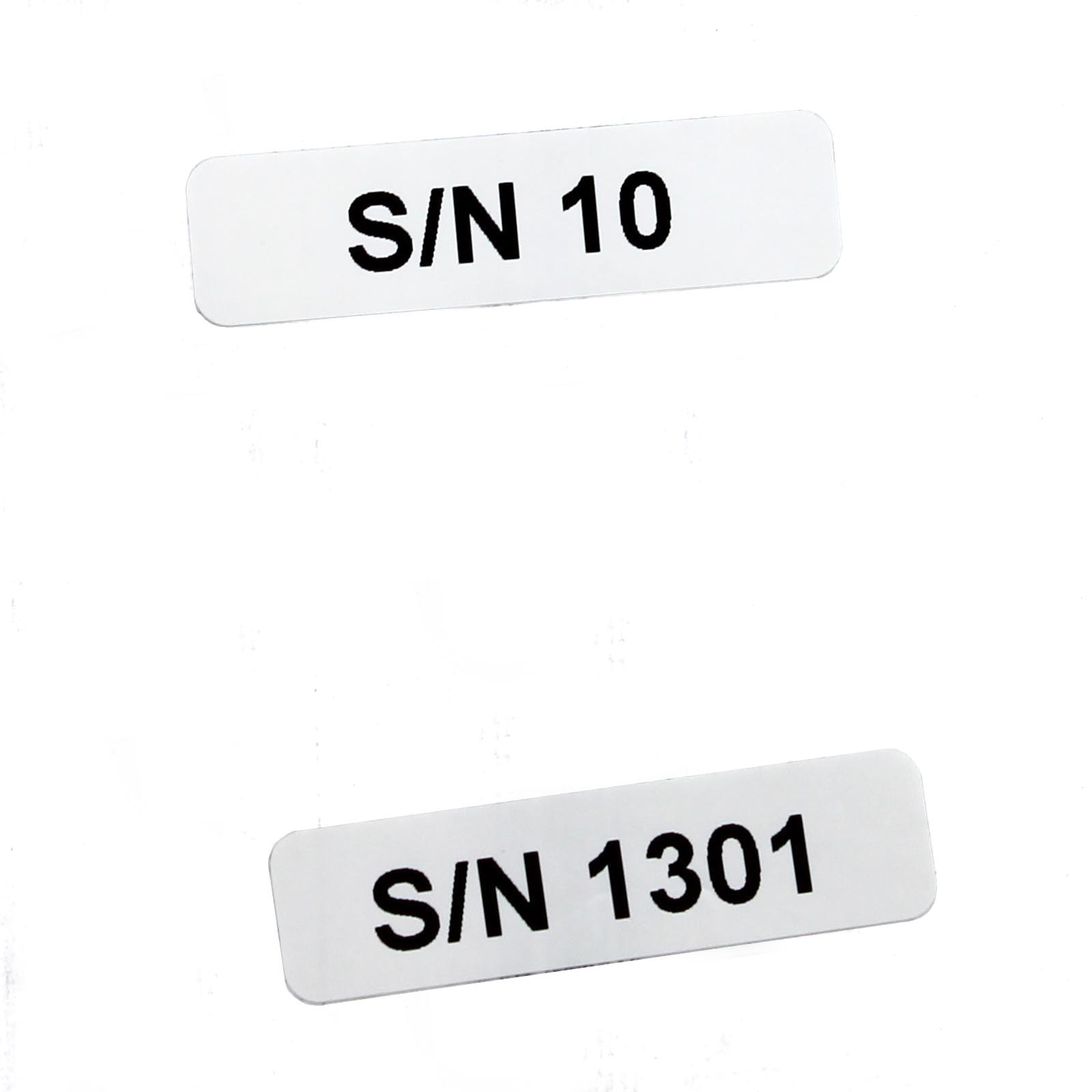 Этикетки 10*60 мм с напечатанным серийным номером