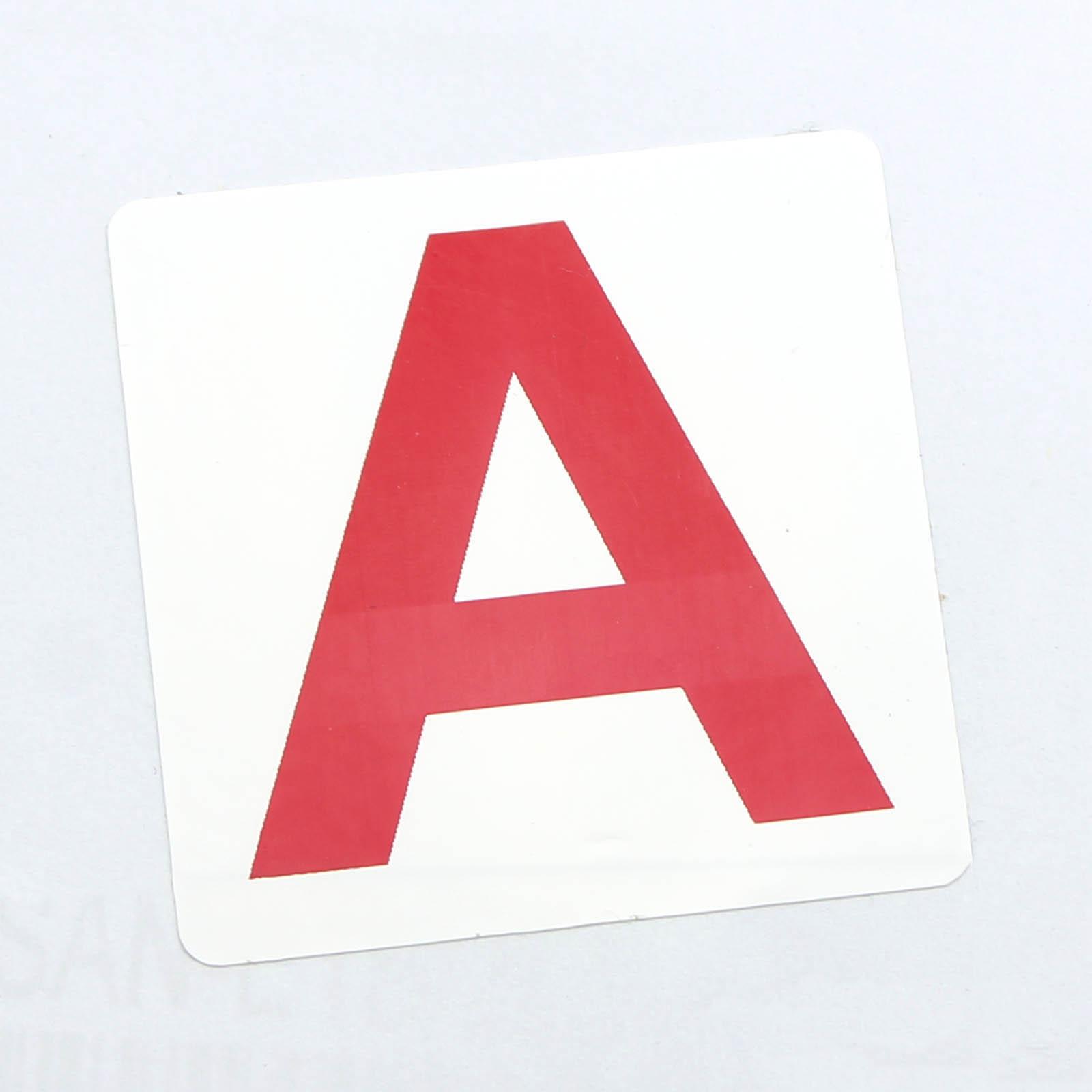 Этикетки 40*40 мм с красной буквой А