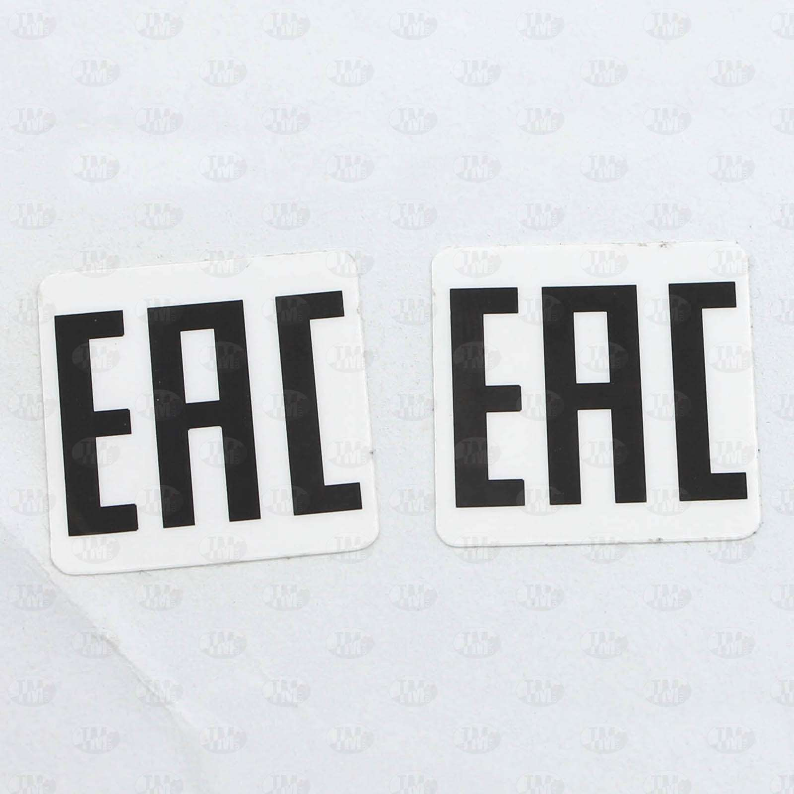 Этикетки 50*50 мм с надписью ЕАС из белого полиэстера