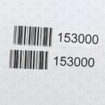Готовые заказные этикетки 10*60 мм со штрих-кодом