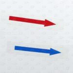Готовые этикетки 10*60 мм с цветными стрелками
