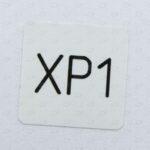 Этикетки 40*40 мм с номером из полиэстера