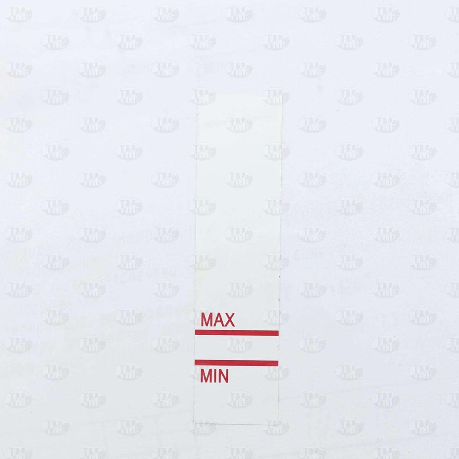 Этикетки 80*20 мм для маркировки уровня жидкости