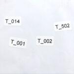 Готовые этикетки 21*10 мм с серийными номерами