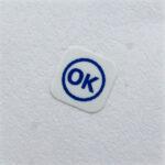 Готовые этикетки 10*10 мм с заказной печатью ОК