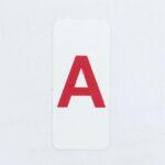 Этикетки 20*60 мм с красной буквой А