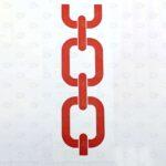 Этикетки 205*75 мм из белого полиэстера с рисунком