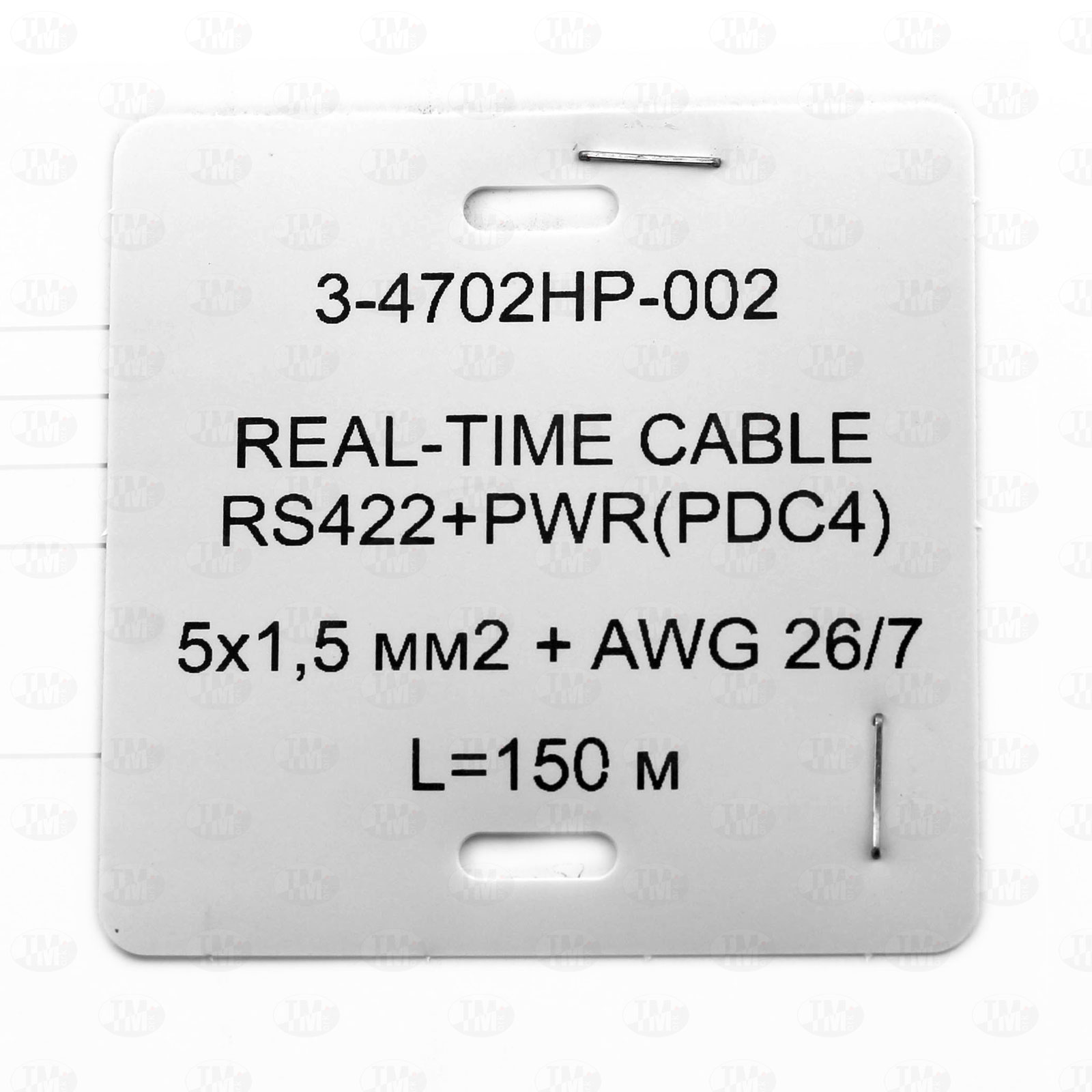 Квадратная бирка для кабельных линий 55х55 мм с печатью