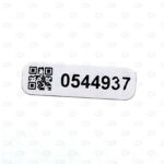 Высокотемпературные этикетки с нумерацией и QR-кодом