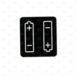 Этикетки 23*25 мм с изображением батареи