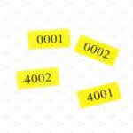 Этикетки 37*16 мм с нумерацией
