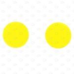 Этикетки D50 мм в форме круга без печати