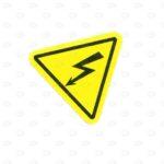 Знаки безопасности 25*25*25 мм для силовых щитков