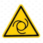 Знаки безопасности 100*100*100 мм со знаком автоматического запуска
