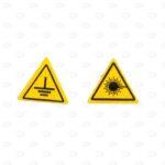 Знаки безопасности 50*50*50 мм с обозначением безопасности
