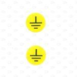 Знаки безопасности D16 мм со знаком заземления