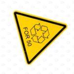 Знаки безопасности 100*100*100 мм с экомаркировкой