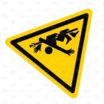 Знаки безопасности 100*100*100 мм со знаком безопасности