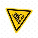 Знаки безопасности 120*100 мм внимание автопогрузчик