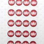 Этикетки D 24 мм с логотипом