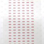 Этикетки с красной печатью H2S 10*5 мм