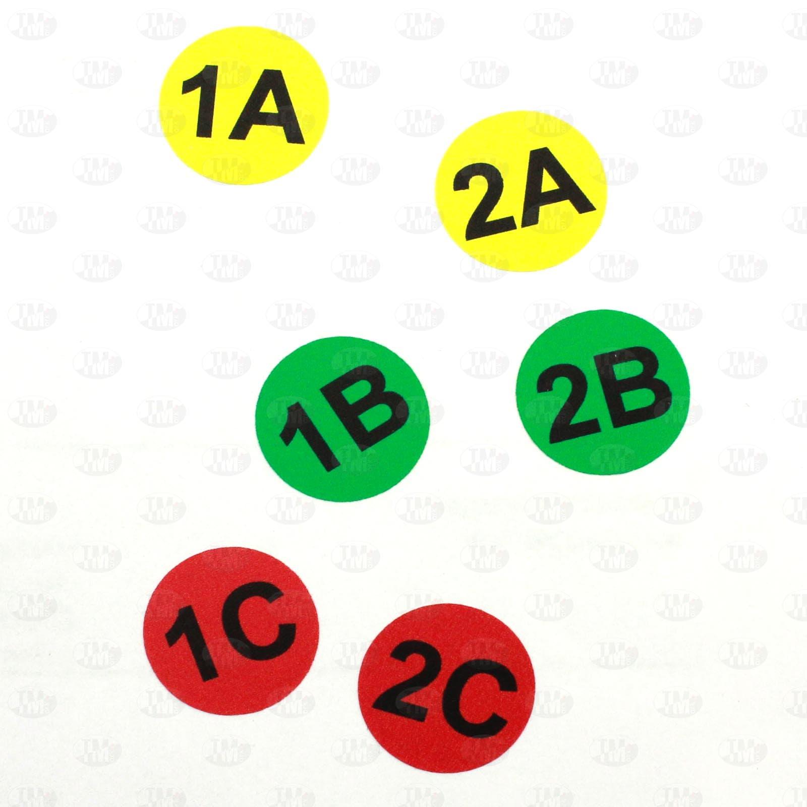 Этикетки D20 мм для маркировки шин