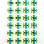 Этикетки с цветной печатью D20 мм для маркировки шин