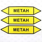 Этикетки желтые метан 26*126 мм