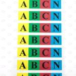 Этикетки с печатью цветные 20*90 мм для маркировки шин