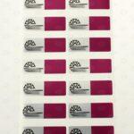 Пломба с цветной печатью 60*20 мм фиолетовая
