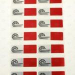 Пломба с цветной печатью 60*20 мм красная