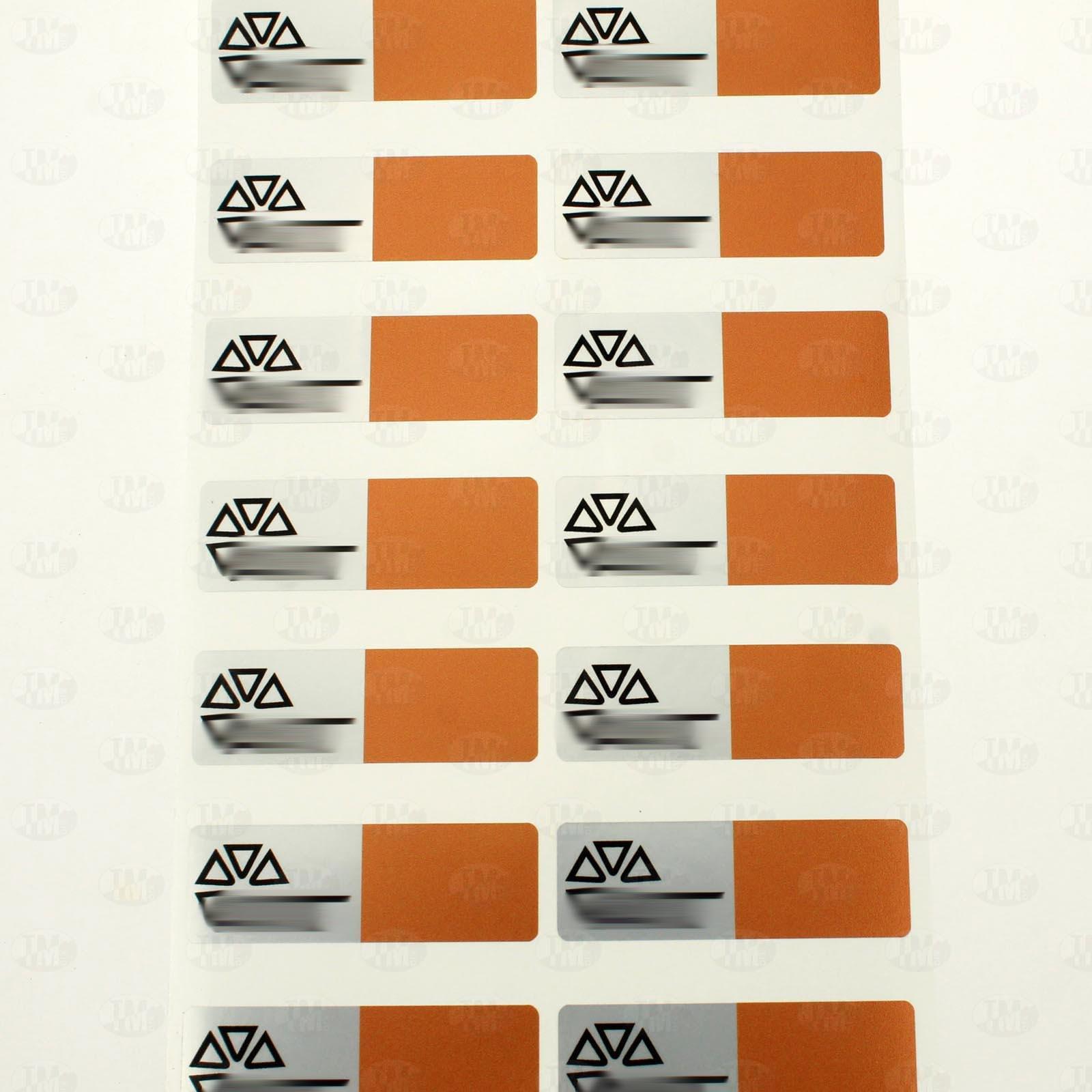 Пломба с цветной печатью 60*20 мм оранжевая
