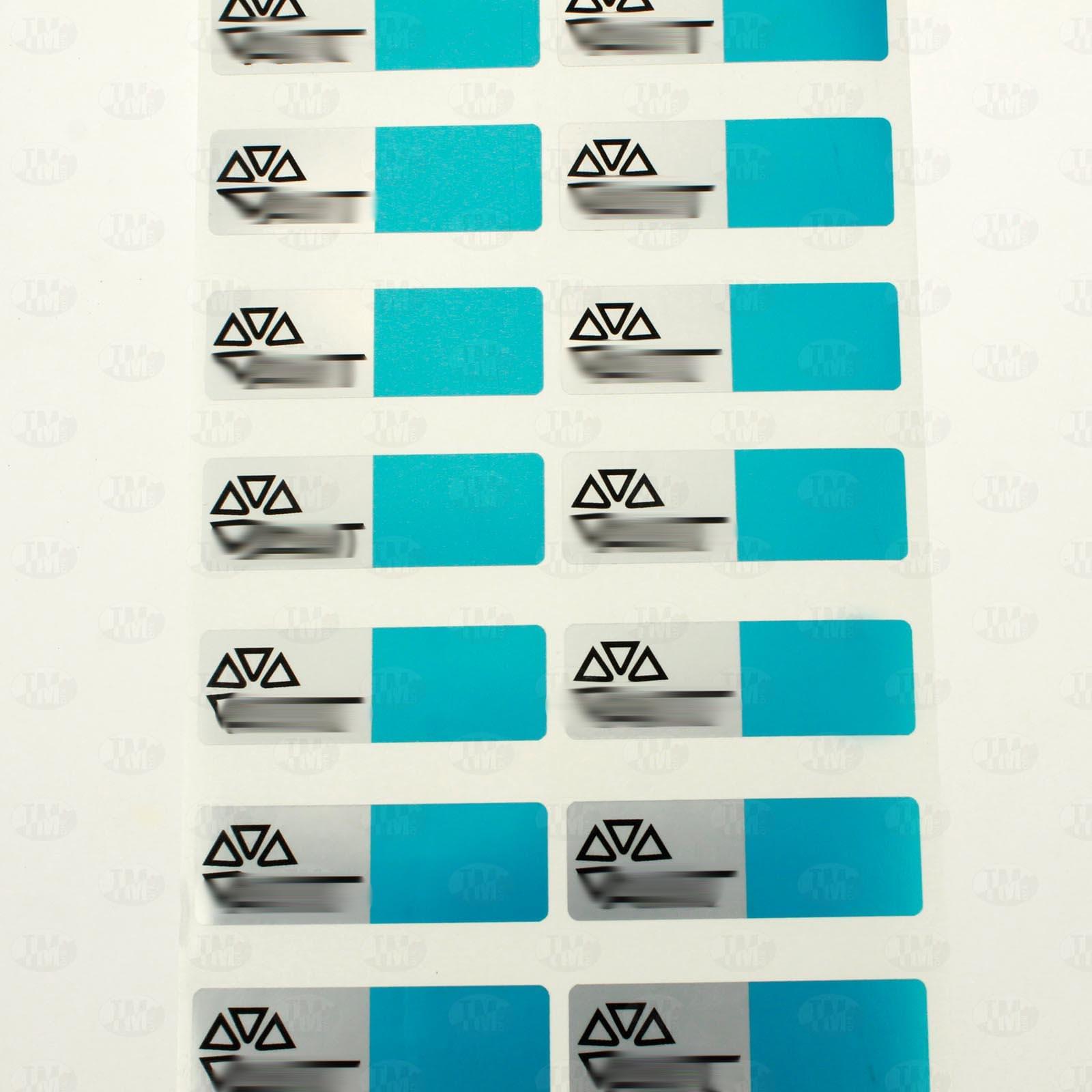 Пломба с цветной печатью 60*20 мм синяя