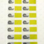 Пломба с цветной печатью 60*20 мм желтая