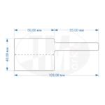 Складные флажки 40х105 мм Тмарк-ФРТ