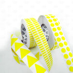 Этикетки из жёлтого глянцевого полиэстера 3418