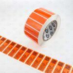 Оранжевая глянцевая пломба наклейка 6016 OPEN ВСКРЫТО