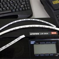 Тест печати маркеров из ПВХ трубки и термоусадочной трубки на принтере MAX LM-390